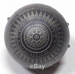 2015 Niue $7 Seven New Wonders of the World 7 oz. 999 Fine Silver Spherical Coin