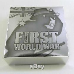 2015 WORLD WAR I CENTENARY GALLIPOLI SIMPSON & DONKEY 5oz Silver Proof Coin WW1