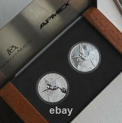 2016 Mexico 2 Coin Silver Libertad Proof/Reverse Proof Set
