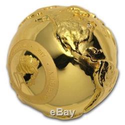2017 Niue Silver $2 World's First 3D Globe Shape Coin SKU#156777