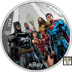 2018 $30Fine Silver Coin-Justice League(TM) World's Greatest Super Heroes(18287)