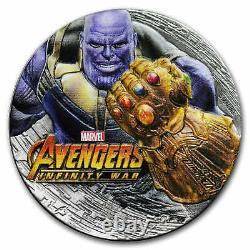 2018 Fiji 2 oz Silver Avengers Infinity War THANOS (Antiqued) SKU#168067