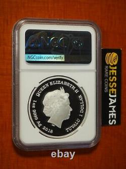 2018 P $1 Tuvalu Proof Silver Colorized Scooby Doo Ngc Ngc Pf70 Ultra Cameo