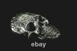 2018 Palau La Catrina Skull 1 oz. 999 Silver antiqued in tin Day of the Dead