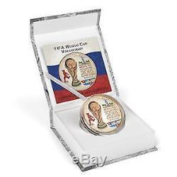 2018 Russia 3 Rubles FIFA World Cup Volgograd 1oz Pink Gold Silver Coin