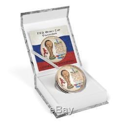 2018 Russia 3 Rubles FIFA World Cup Volgograd 1oz Pink Gold Silver Coin PRESALE