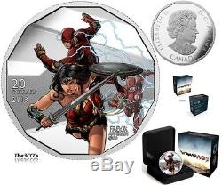 2018 Sliver & 3D Justice League Worlds Greatest Super Heroes 5 Coin Set