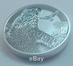 2018 Tuvalu Bald Eagle 2 oz silver piedfort coin in capsule roll of 10 coins