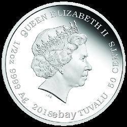 2018 Tuvalu LOONEY TUNES BUGS BUNNY 1/2oz SILVER Half Dollar PROOF COIN
