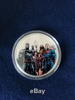 2018 World's Greatest Superheroes- $ 30 2 oz Silver Coin The Justice League