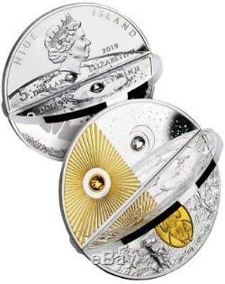 2019 2 Oz Silver $5 Niue CREATION WORLD Coin