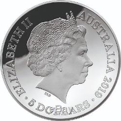 2019 Australia 1812 A New Map of the World $5 Fine Silver Proof Domed Coin RAM