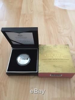 2019 Australia 1 oz Silver $5 Map of the World Domed Proof Coin Brand New