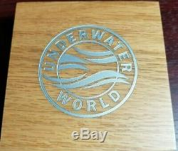 2019 Barbados Underwater World Dolphin! 3 oz Antiqued. 999 Silver Coin