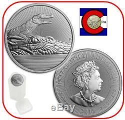 2019 Crocodile & Baby Australia 2 oz Silver Roll/Tube 10 Coins-Next Generation