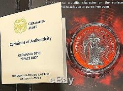 2019 Germania Space Red 1 oz. 9999 Silver Special Edition Coin Berlin World Show