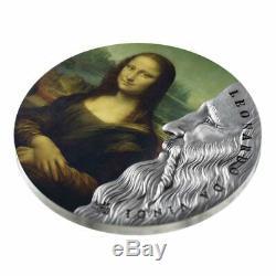 2019 Ghana 2 Ounce Leonardo da Vinci World's Greatest Artists Silver Coin