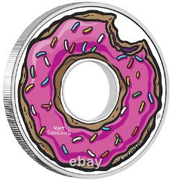2019 The Simpsons Donut Proof $1 1oz Silver COIN NGC PF 70 Early Releases