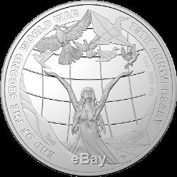 2020 $5 1oz Silver Proof Coin 75th Anniversary of the End of World War II