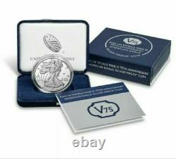 2020 End of World War 2 75th Anniversary American Eagle Silver Coin 20XF IN HAND