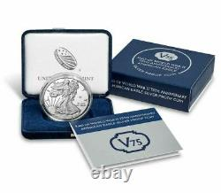 2020 End of World War 2 75th Anniversary American Eagle Silver Proof Coin WWII