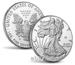 2020 End of World War II 75th Anniversary American Eagle Silver Coin IN HAND
