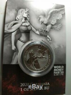 2020 Germania 1 oz. Silver Coin World Money Fair Special Edition In Stock Now