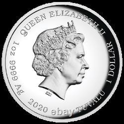 2020 JAMES BOND 007 1oz SILVER PROOF HIGH RELIEF COIN