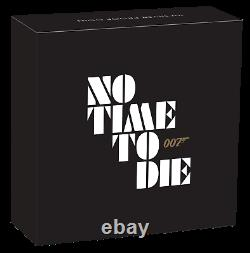 2020 JAMES BOND 007 NO TIME TO DIE 1oz. 9999 SILVER PROOF $1 COIN