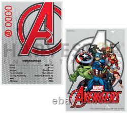 2020 Marvel Avengers Avengers Logo 1 Oz. Silver Coin With Pure Silver Coa