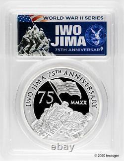 2020-P $2 Iwo Jima 75th Ann. 2oz Silver Piedfort Proof Coin PCGS PR70 FDI
