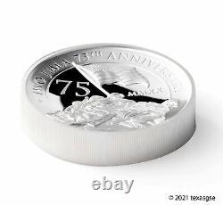 2020-P $5 Iwo Jima 75th Ann. 5oz Silver High Relief Proof Coin PCGS PR70 FDI