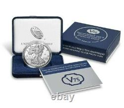 2020 W END WORLD WAR II 75th AMERICAN EAGLE Silver Coin IN HAND Sealed 20XF