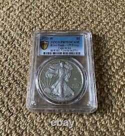 2020-W End of World War II American Eagle Silver Coin (1ST STRIKE PCGS V75 PR70)