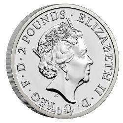 2021 Great Britain £2 Britannia Premium BU 1 oz Silver Coin 7,500 Made