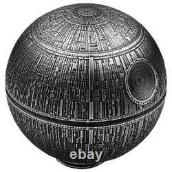 2021 Niue $100 Star Wars Death Star Spherical 1 Kilo. 999 Silver Coin 299 Made