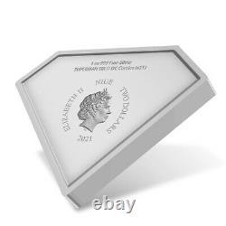 2021 Niue 1 oz DC Comics Superman Shield Shaped Silver Coin (withBox & COA)