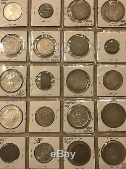 (20)World Silver Coins Lot, India, Germany, Japan, Canada, Portuguese, France