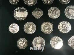 25 Sterling Silver World Casino Coin's by Franklin Mint with Box & COA Q3