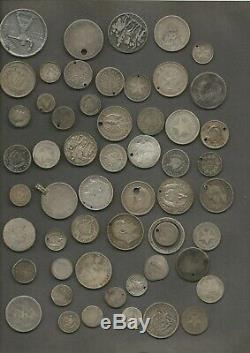 388 grams (12.5 troy ounces) 90% silver WORLD coins damage FREE SHIPPING