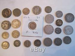 3.35 Oz Of Silver Coins 90% Silver World Wide Unsearched