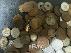 4.25 lb of World War 2 Era Coins With Over 1.5 Ounces Oz Silver