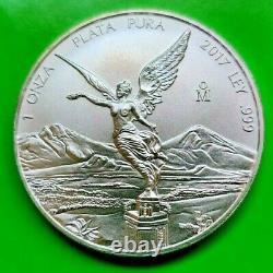 5 oz Silver Libertad 2014 2015 2016 2017 2019 BU Mexico Plata Pura From New Roll