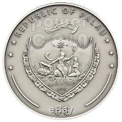 AMETHYST Treasures Of The World Silver Coin 5$ Palau 2013