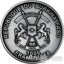 AMMONITE World of Evolution 1 Oz Silver 1000 Francs Burkina 2016. COIN # 006