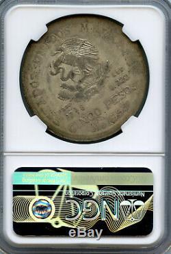 ANGUILLA 1967 LIBERTY DOLLAR Counterstamp Mexico SILVER WORLD COIN, NGC AU58