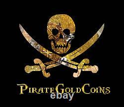 ATOCHA (1) 1622 GOLD FINGER BAR 22k PLATED PIRATE GOLD COIN TREASURE BAR ESCUDOS