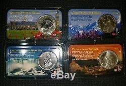 American Silver Eagles 1 oz. 4 BU Coin Lot of 13 / 4 world coins