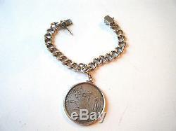 Antique bracelet mount Switzerland Thaler 1623 Silver World Coin Swiss RAM EAGLE