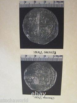 Atocha 8 Reale coin rare JUMBO Grade 1 Assayer B in14K Gold pendant withDaggers